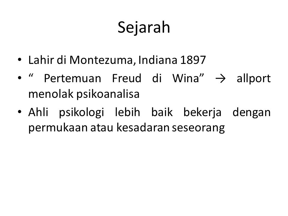 Sejarah Lahir di Montezuma, Indiana 1897