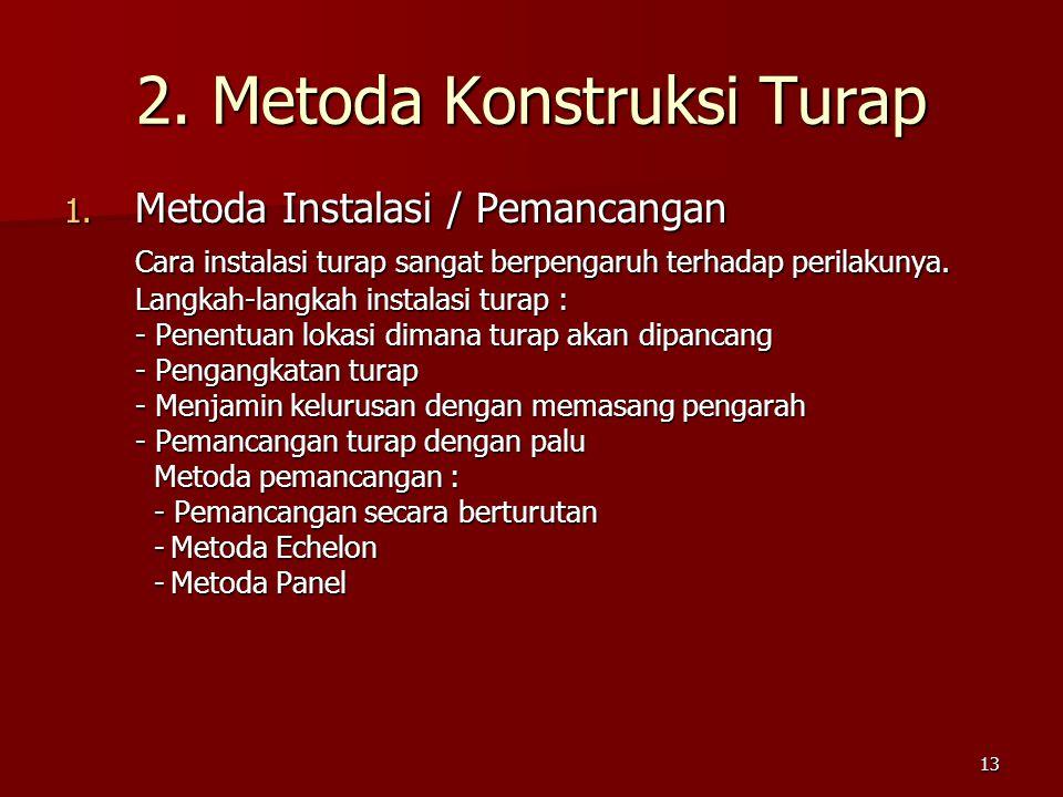 2. Metoda Konstruksi Turap