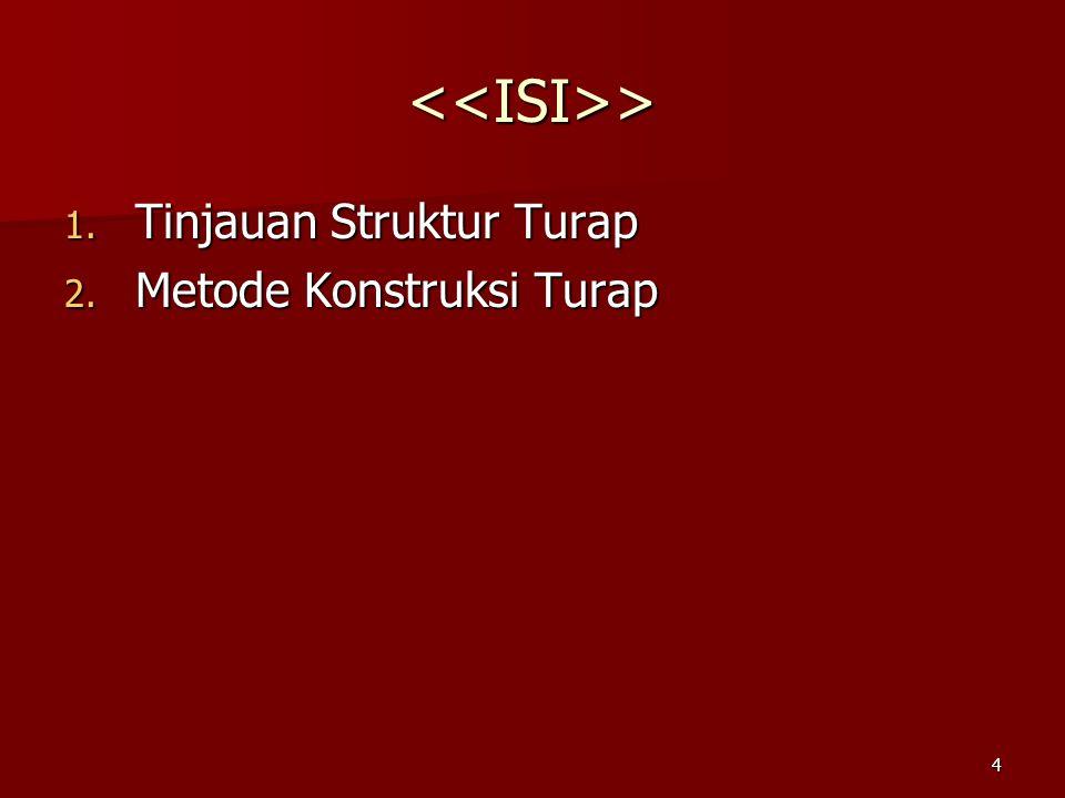 <<ISI>> Tinjauan Struktur Turap Metode Konstruksi Turap
