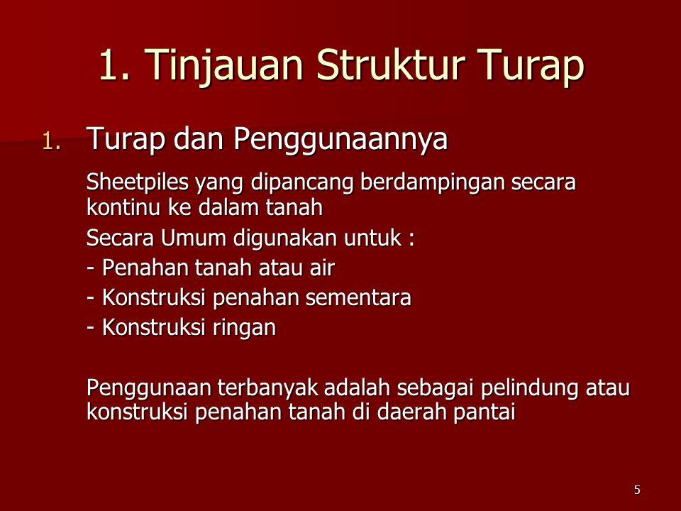 1. Tinjauan Struktur Turap