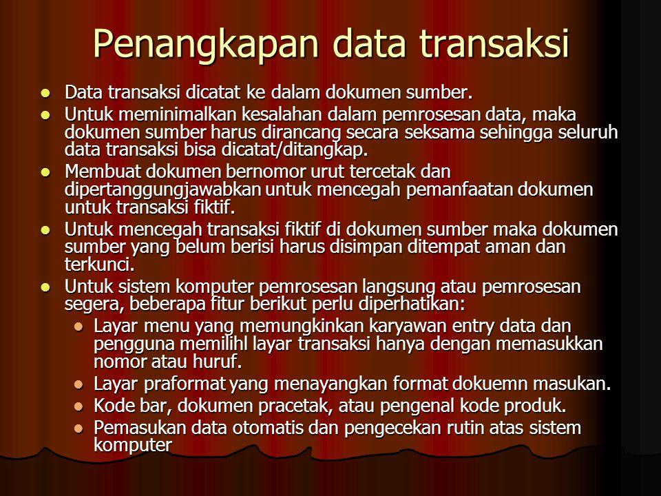 Penangkapan data transaksi