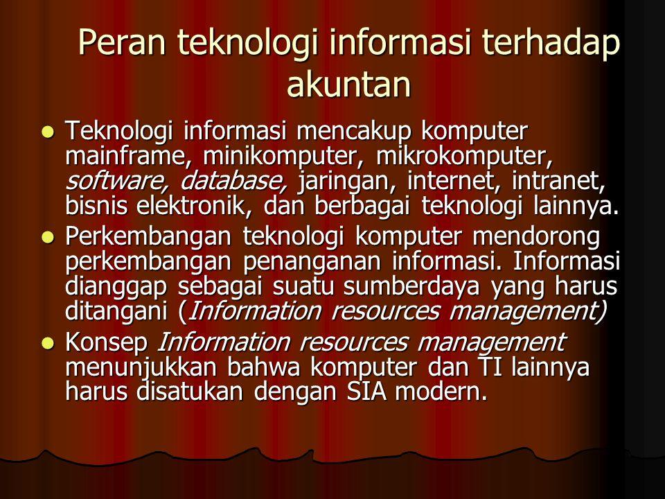 Peran teknologi informasi terhadap akuntan