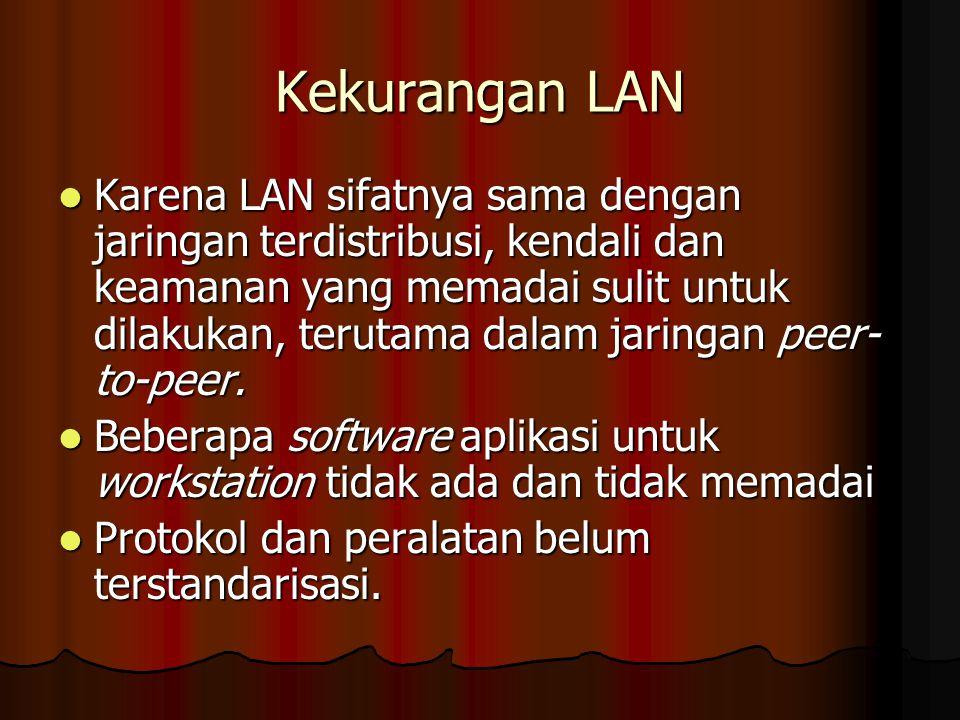 Kekurangan LAN