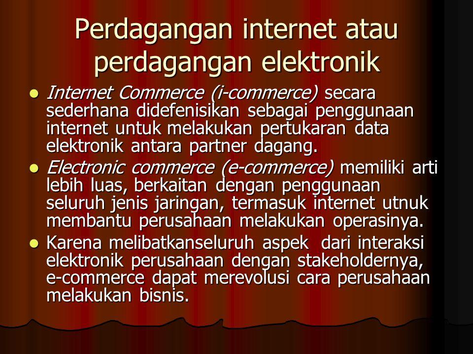 Perdagangan internet atau perdagangan elektronik