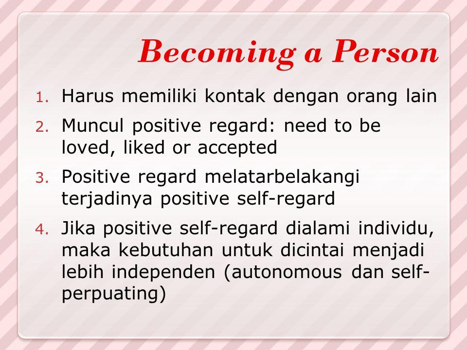 Becoming a Person Harus memiliki kontak dengan orang lain