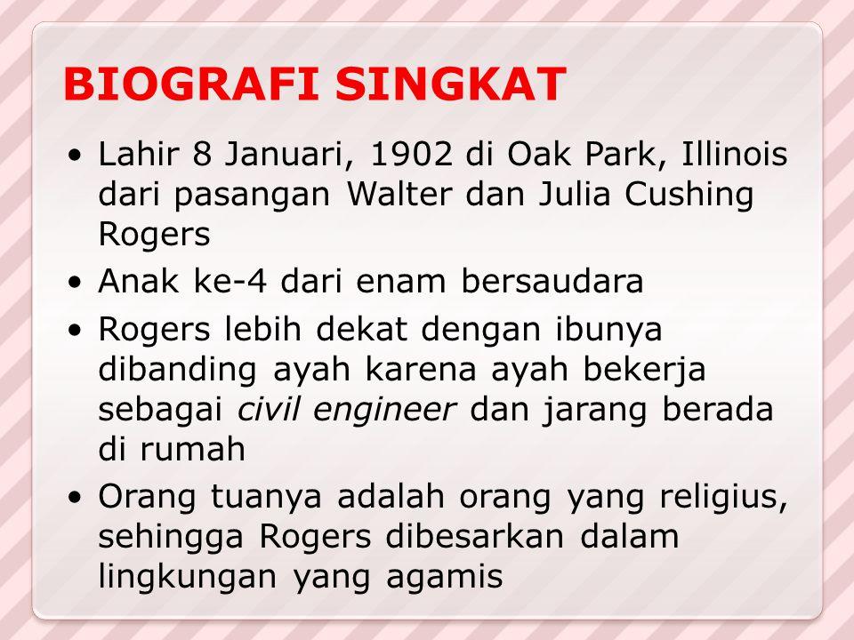 BIOGRAFI SINGKAT Lahir 8 Januari, 1902 di Oak Park, Illinois dari pasangan Walter dan Julia Cushing Rogers.
