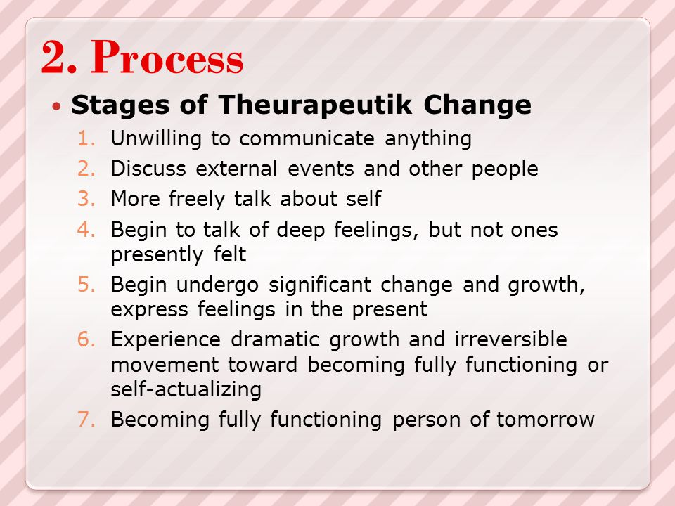 2. Process Stages of Theurapeutik Change