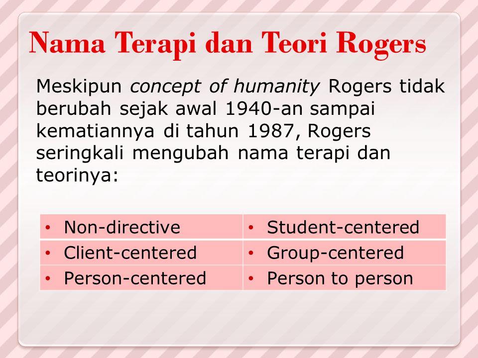 Nama Terapi dan Teori Rogers