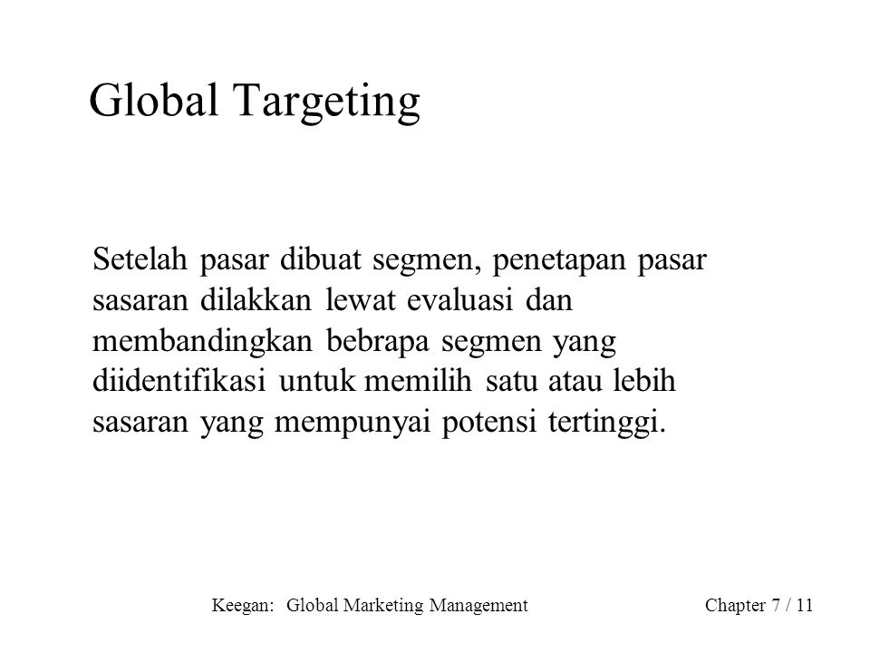 Global Targeting