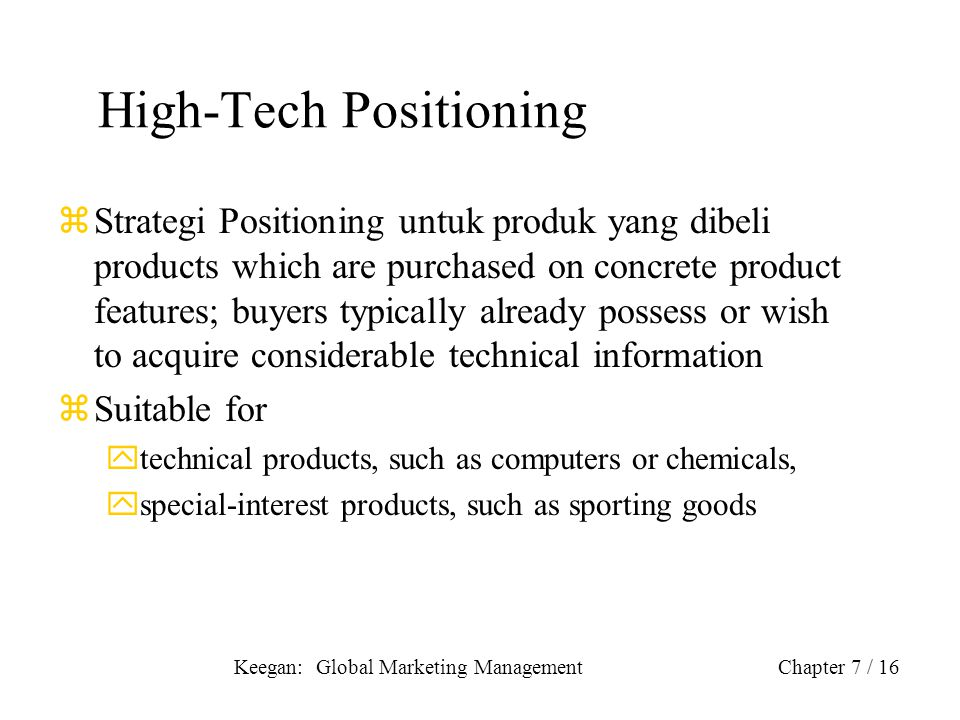 High-Tech Positioning
