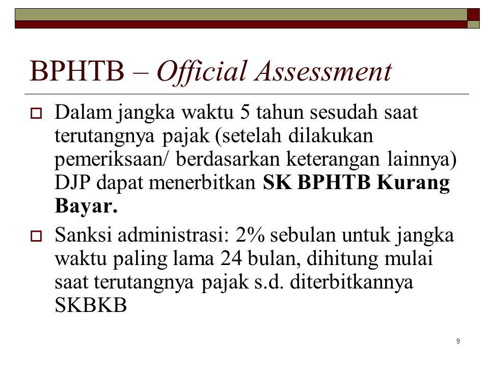 BPHTB – Official Assessment