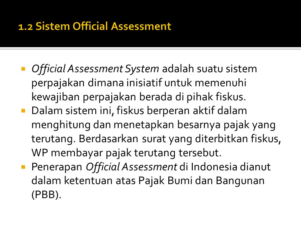 1.2 Sistem Official Assessment