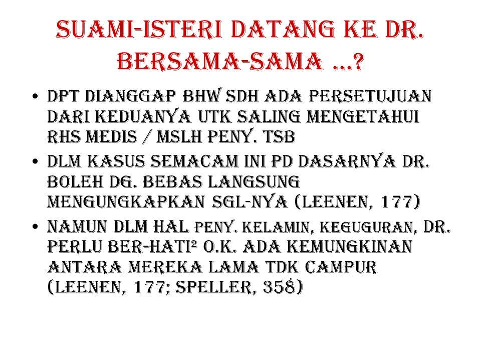 SUAMI-ISTERI DATANG KE DR. BERSAMA-SAMA …