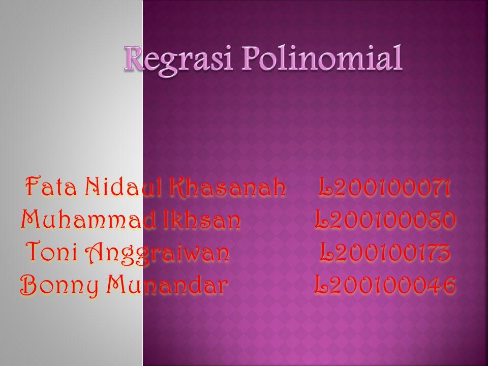 Regrasi Polinomial Fata Nidaul Khasanah L200100071