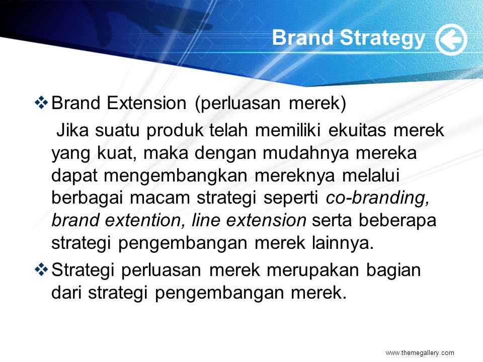 Brand Strategy Brand Extension (perluasan merek)
