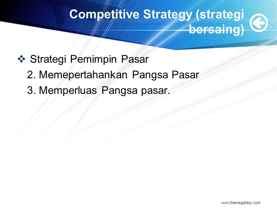 Competitive Strategy (strategi bersaing)
