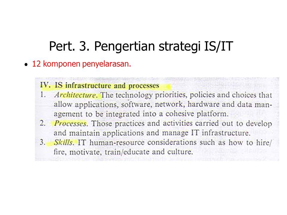 Pert. 3. Pengertian strategi IS/IT