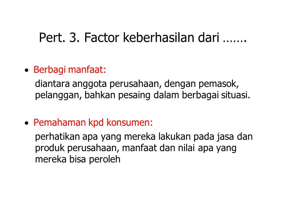 Pert. 3. Factor keberhasilan dari …….