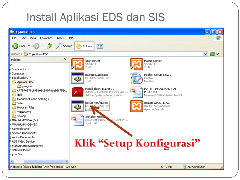 Install Aplikasi EDS dan SIS