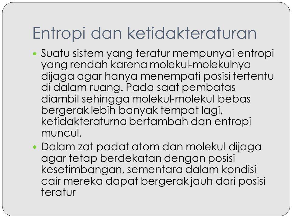 Entropi dan ketidakteraturan