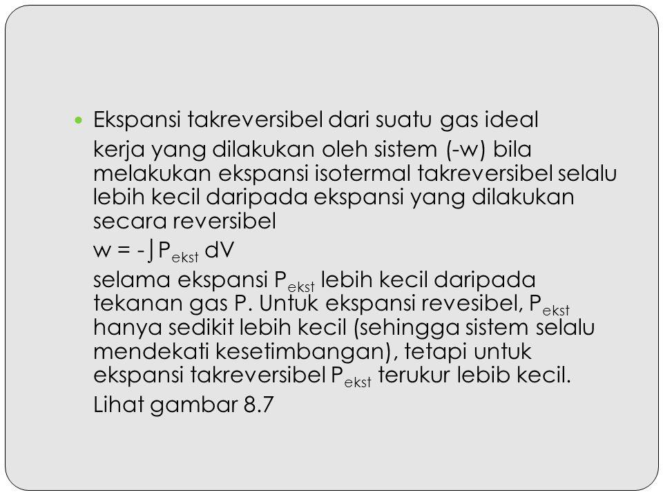 Ekspansi takreversibel dari suatu gas ideal