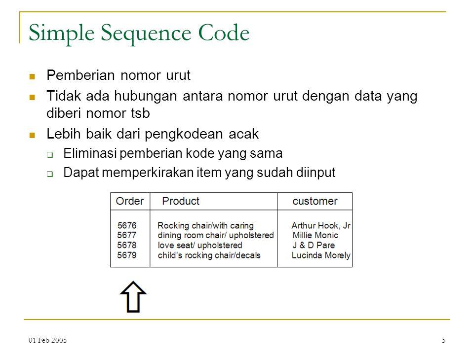 Simple Sequence Code Pemberian nomor urut