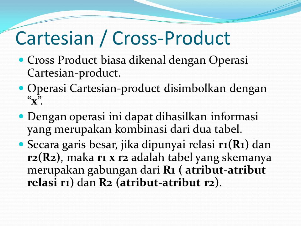 Cartesian / Cross-Product