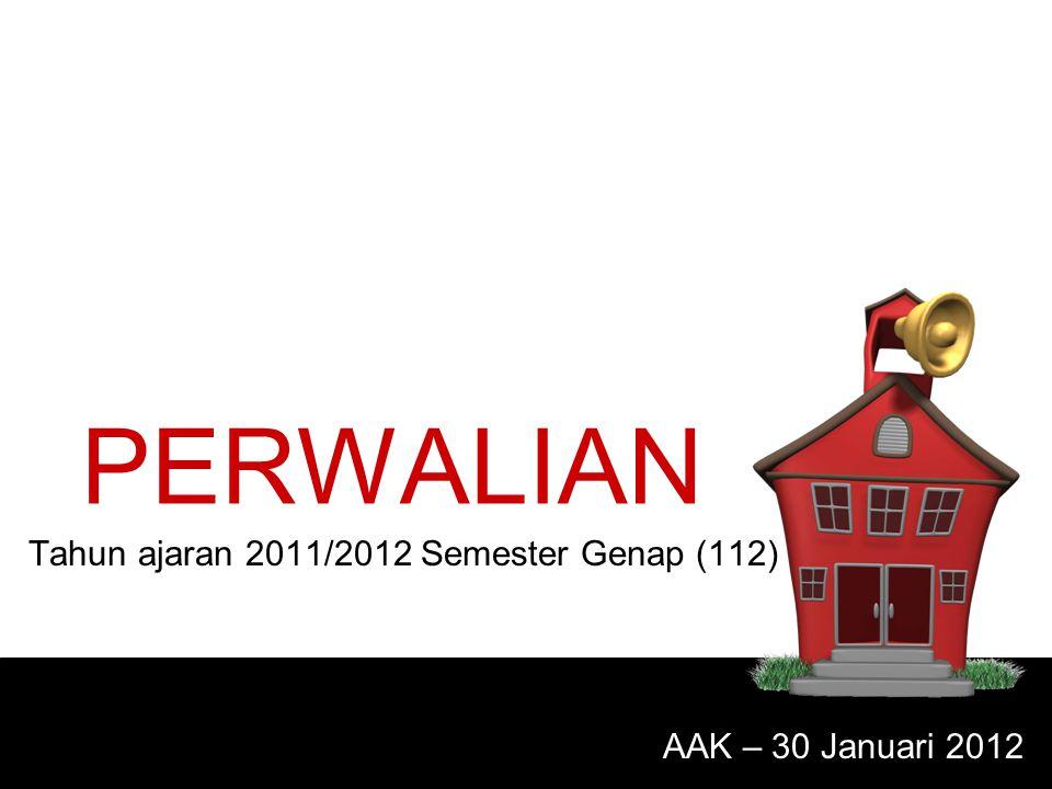 Tahun ajaran 2011/2012 Semester Genap (112)