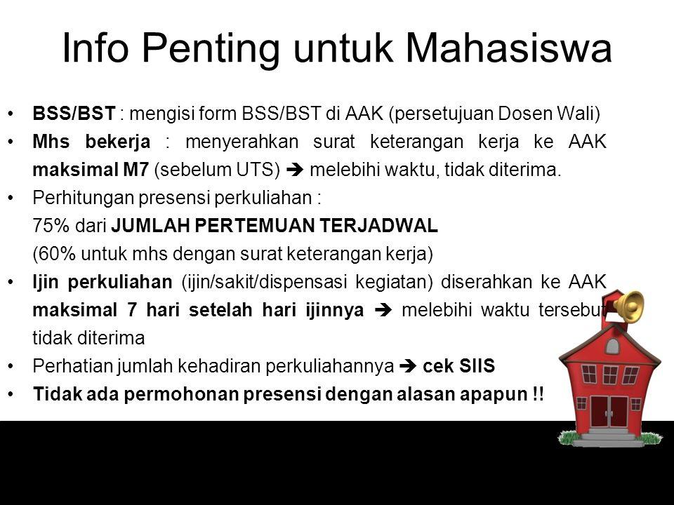 Info Penting untuk Mahasiswa