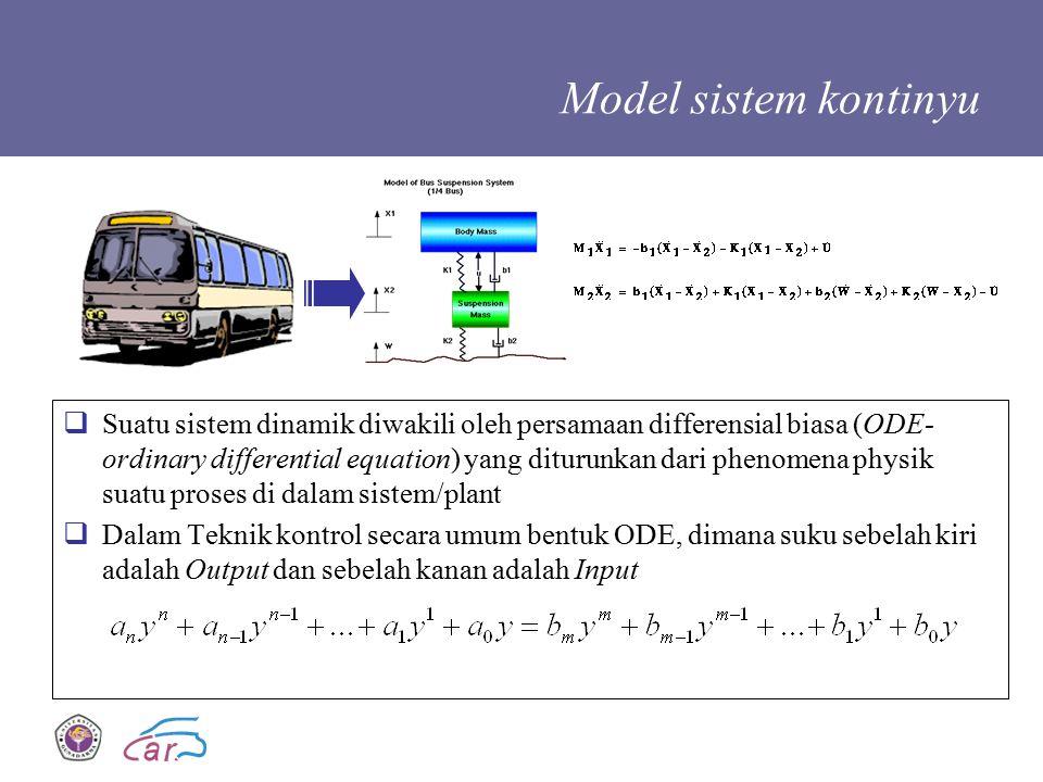 Model sistem kontinyu
