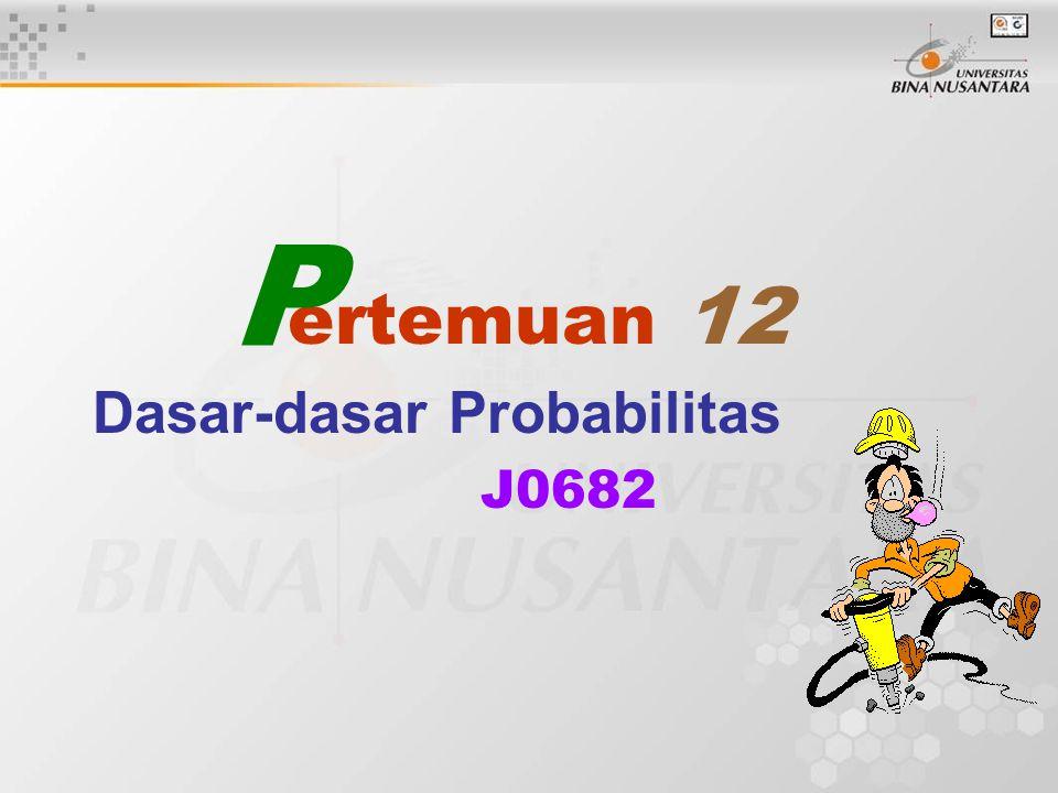 Dasar-dasar Probabilitas J0682