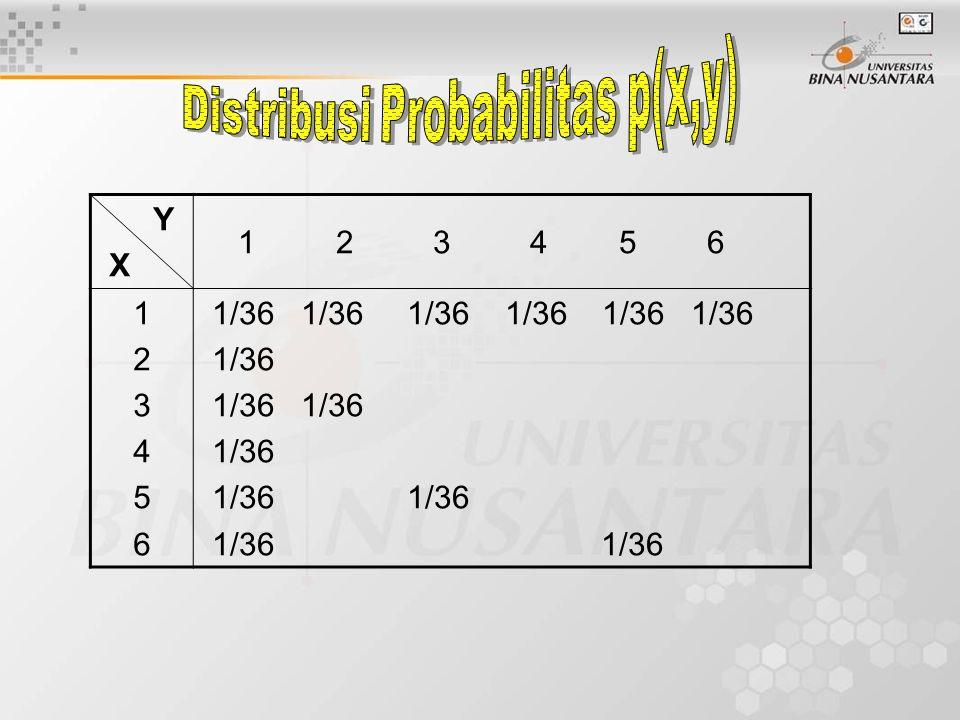 Distribusi Probabilitas p(x,y)