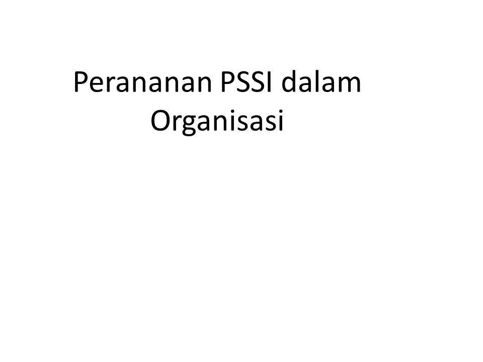 Perananan PSSI dalam Organisasi