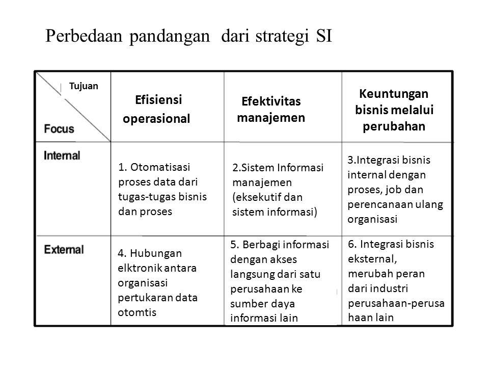 Perbedaan pandangan dari strategi SI