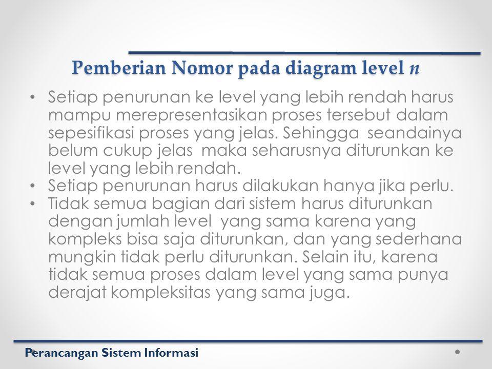 Pemberian Nomor pada diagram level n