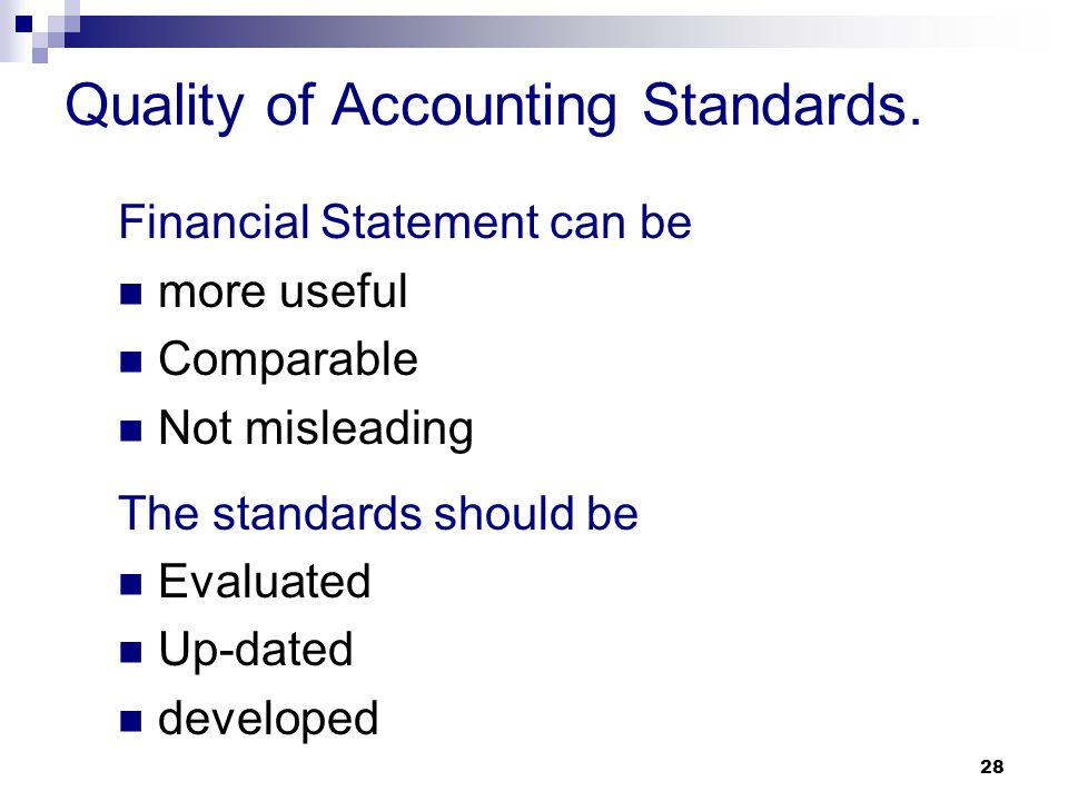 Quality of Accounting Standards.