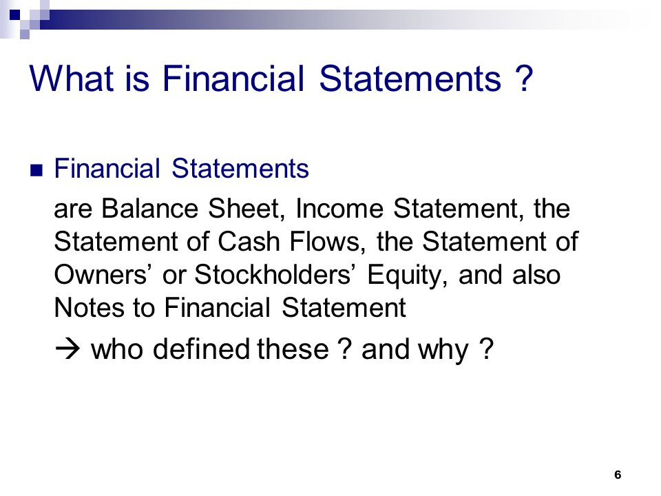 What is Financial Statements
