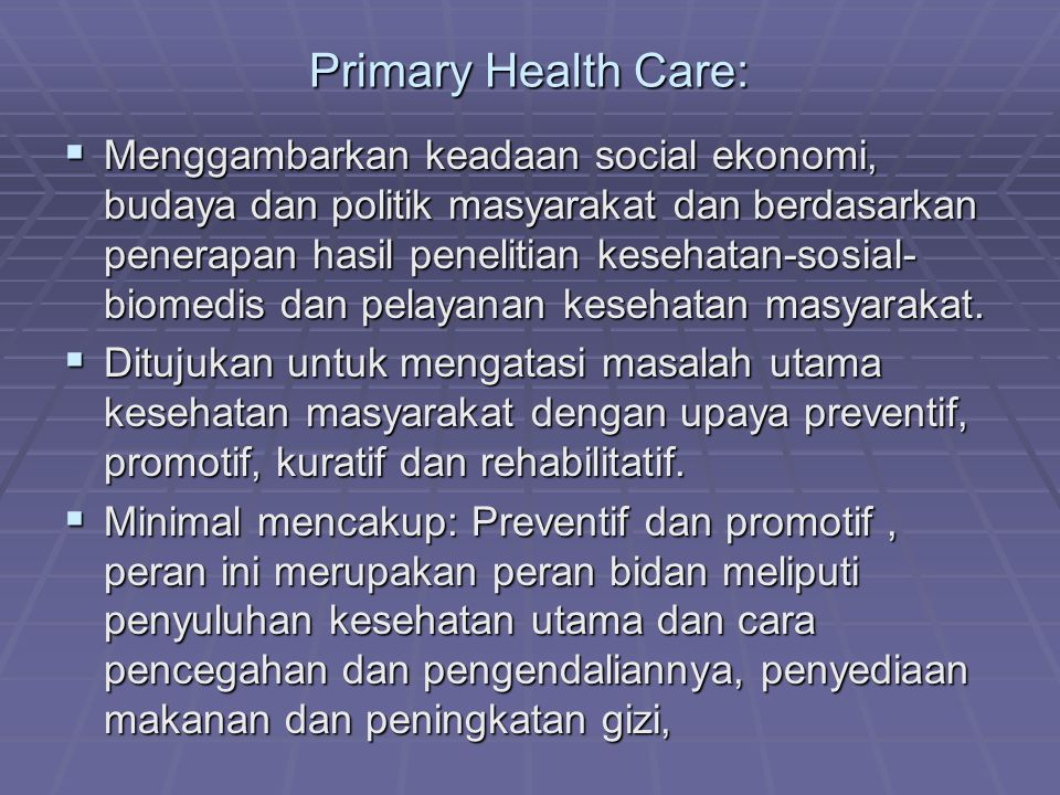 Primary Health Care: