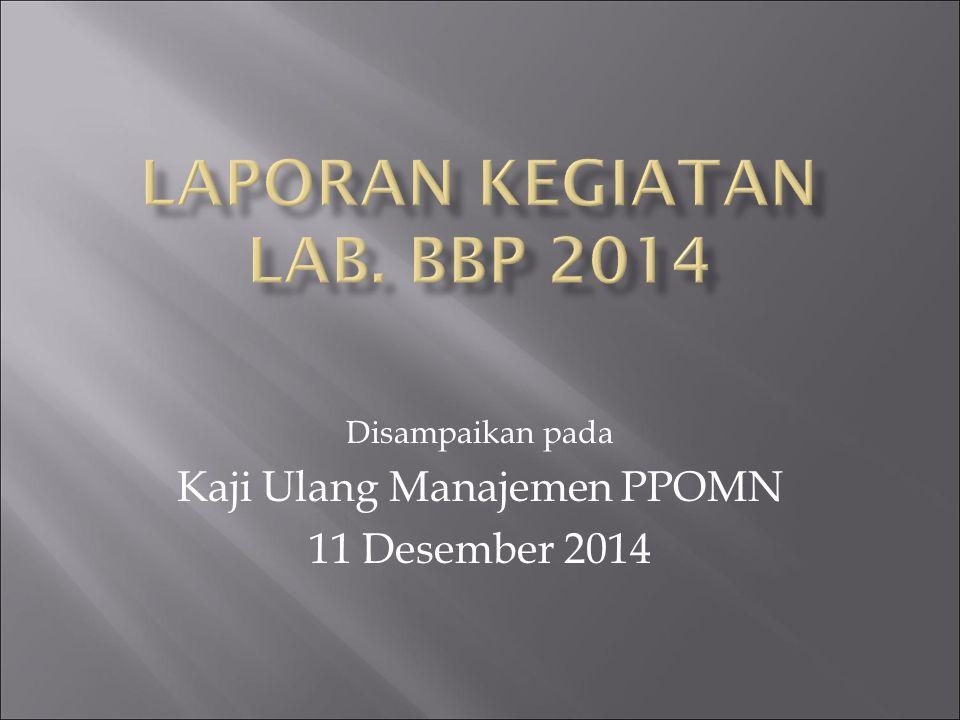 LAPORAN Kegiatan Lab. BBp 2014