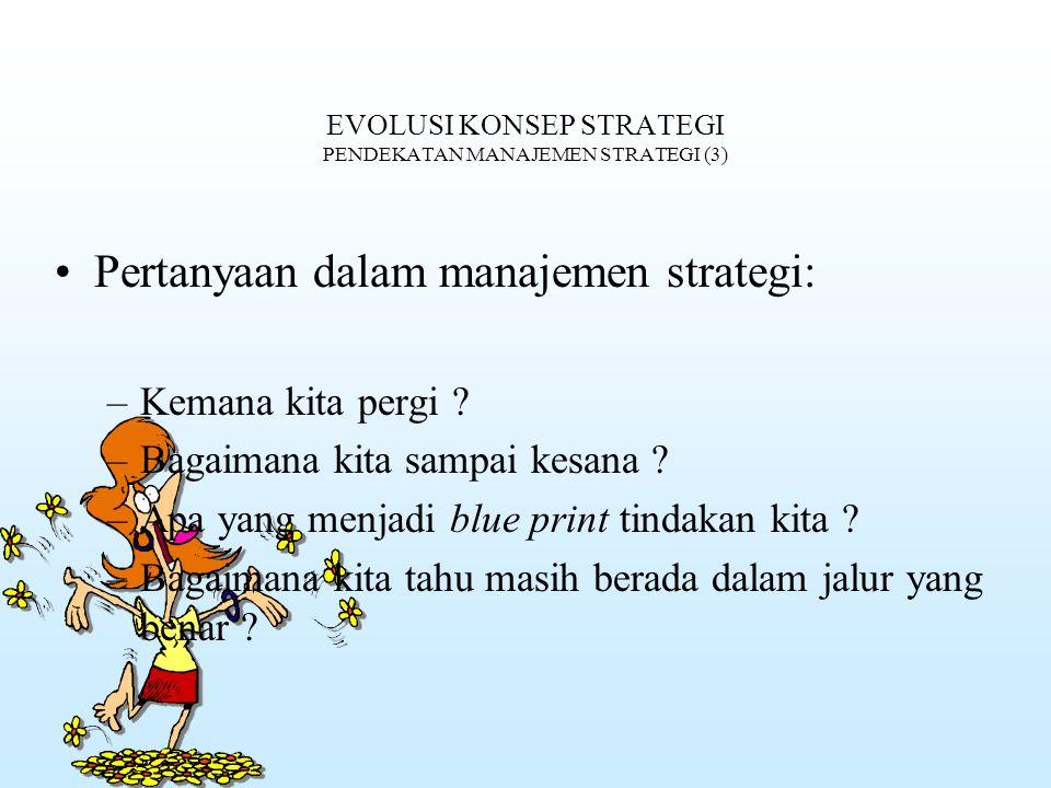 EVOLUSI KONSEP STRATEGI PENDEKATAN MANAJEMEN STRATEGI (3)