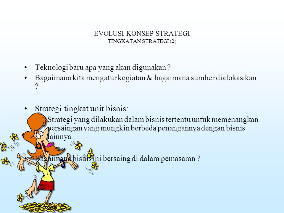 EVOLUSI KONSEP STRATEGI TINGKATAN STRATEGI (2)