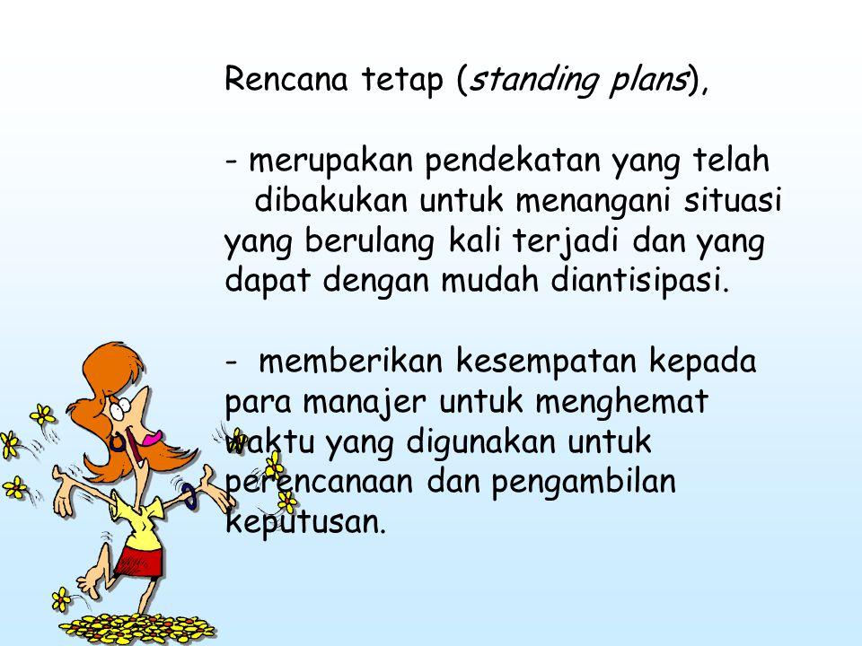 Rencana tetap (standing plans),