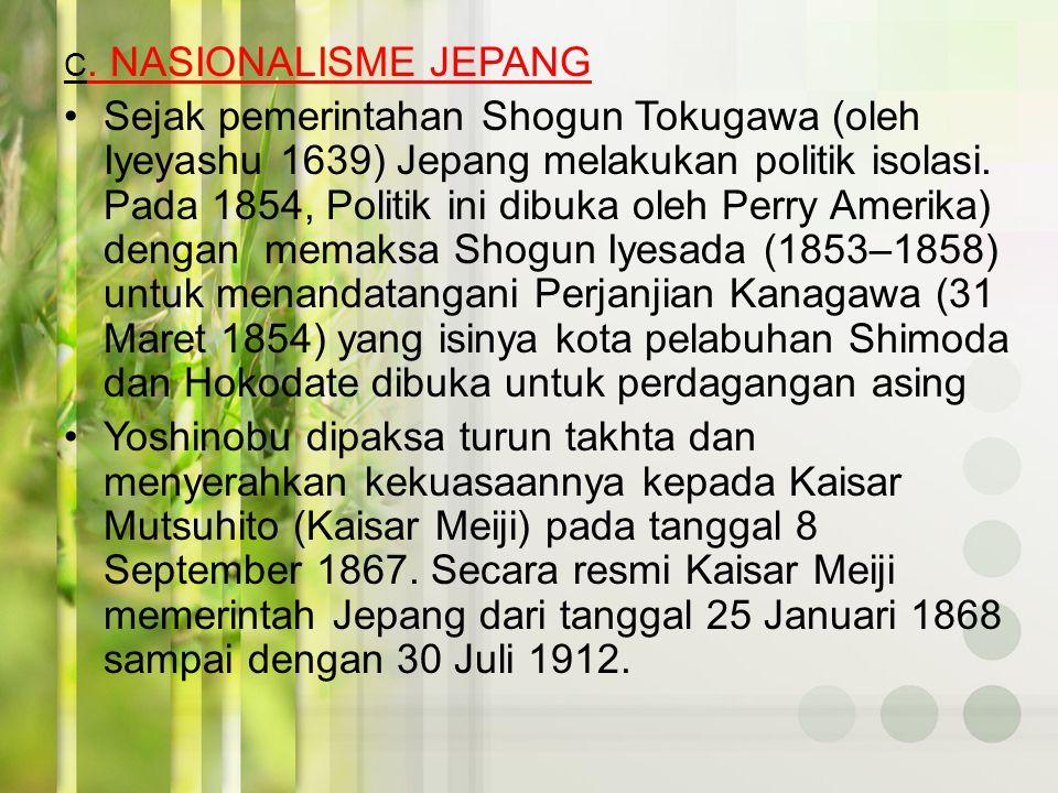 C. NASIONALISME JEPANG