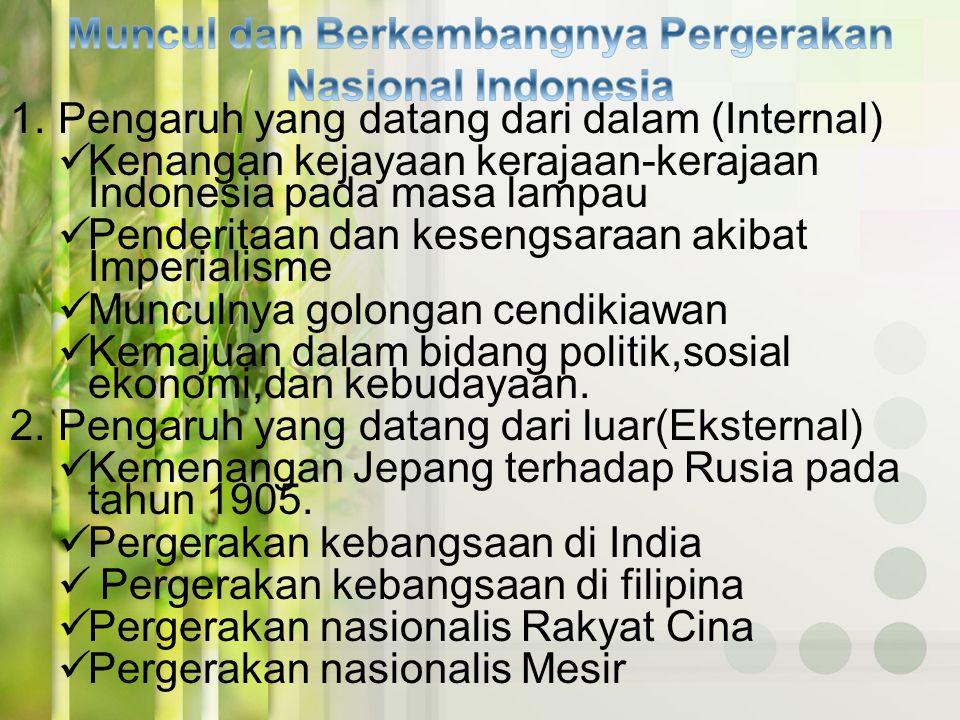 Muncul dan Berkembangnya Pergerakan Nasional Indonesia