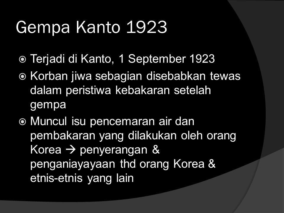 Gempa Kanto 1923 Terjadi di Kanto, 1 September 1923