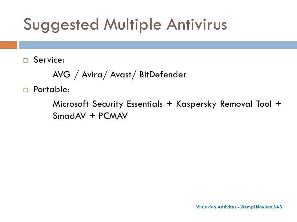 Suggested Multiple Antivirus