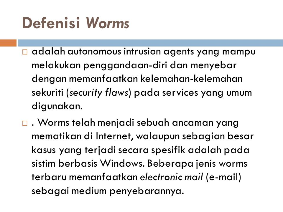 Defenisi Worms
