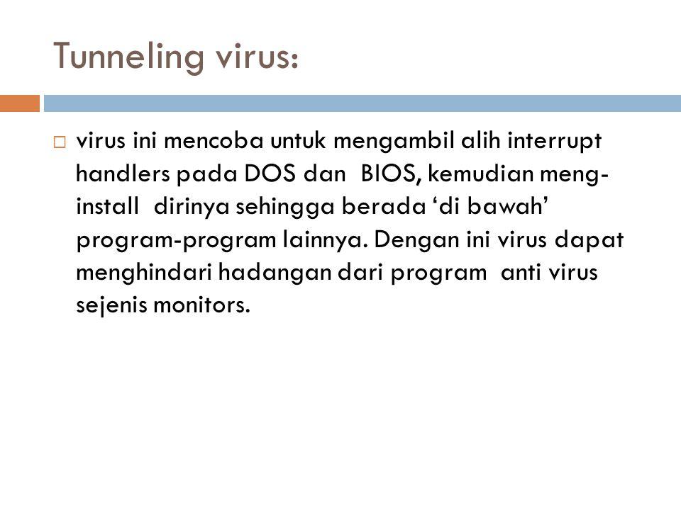 Tunneling virus: