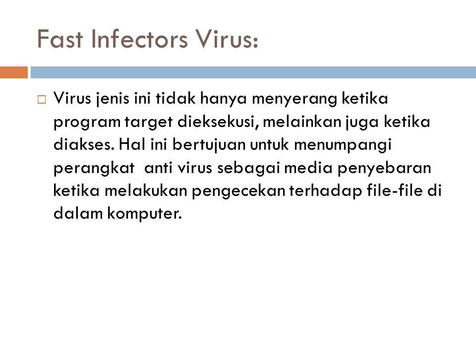 Fast Infectors Virus: