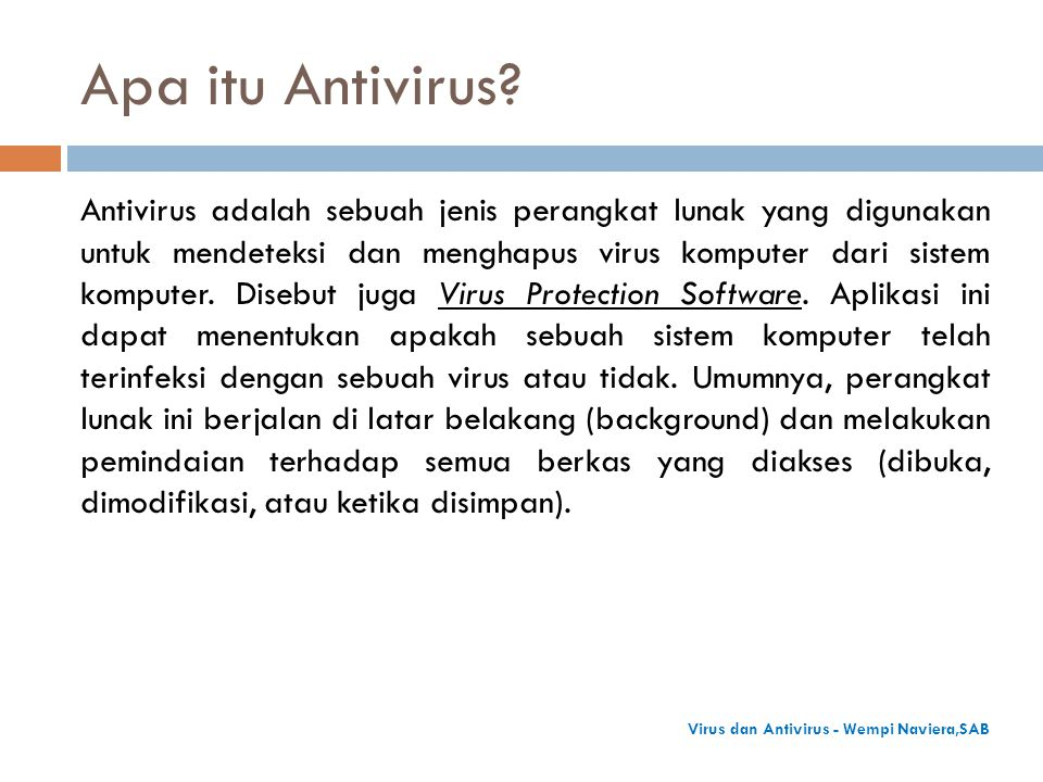 Apa itu Antivirus